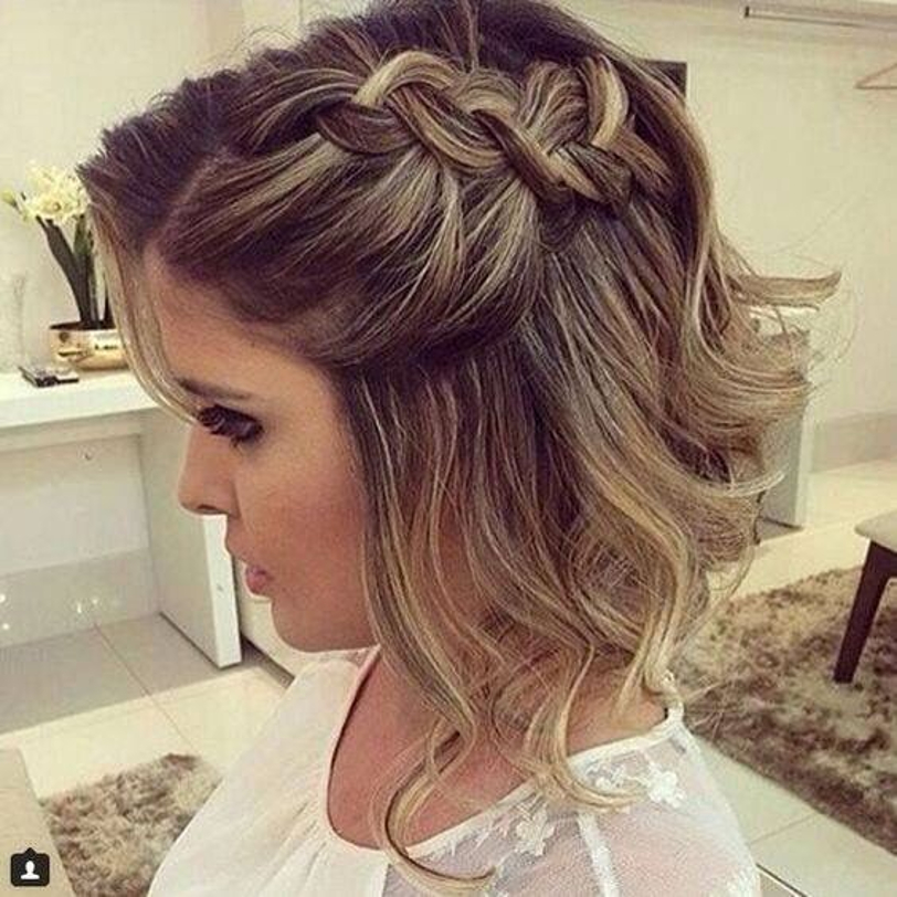 Peinados Para Novias Pelo Corto Con Trenzas Cortes De Pelo - Peinados-para-novias-pelo-corto