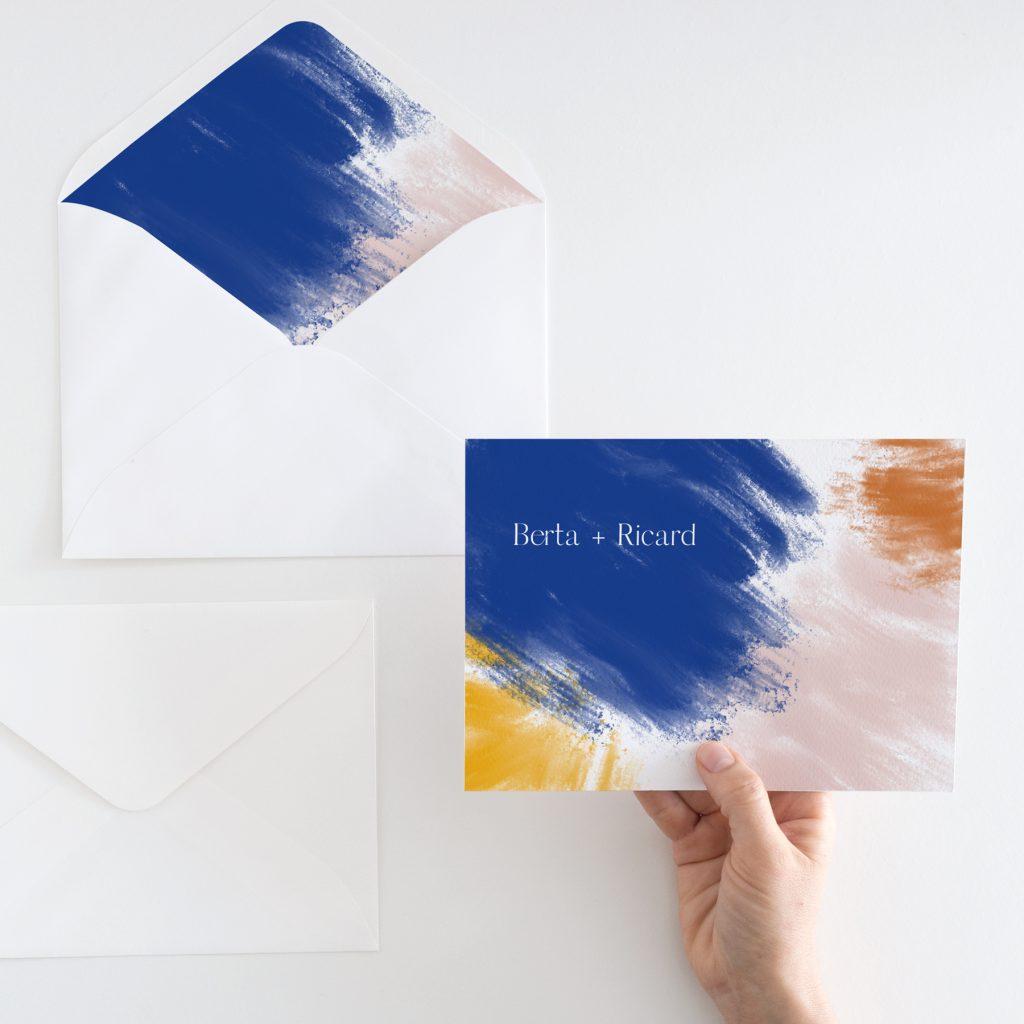 Invitaciones de boda de diseño abstracto moderno