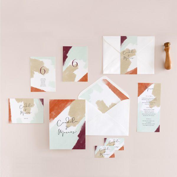 Invitaciones de boda baratas de estilo abstracto