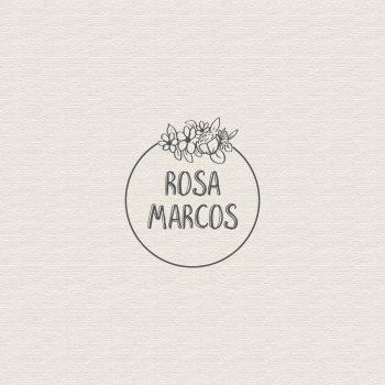 sello boda personalizado con flores