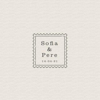 sello boda personalizado vintage