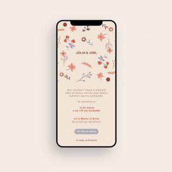 Invitaciones de boda baratas digitales