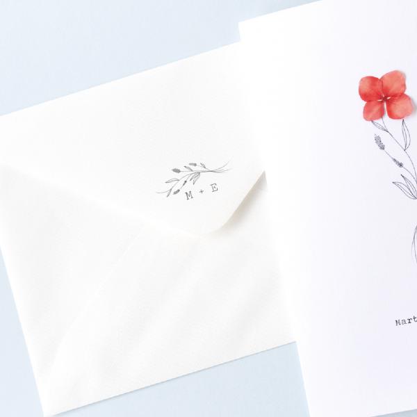 estampar sello boda en invitación personalizado