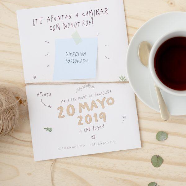 Invitaciones de boda impresa