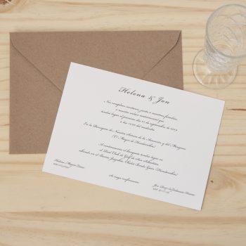 Invitación de boda clásica personalizada