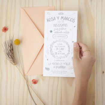 Invitaciones de boda rustica