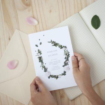 Invitaciones de boda flores