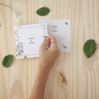 Invitaciones de boda originales en acuarela flores