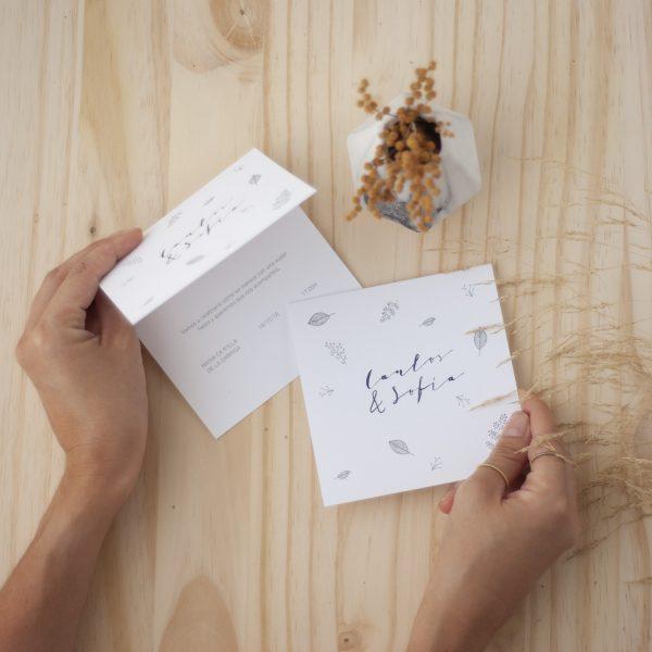 Invitaciones de boda minimalista