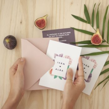 Invitaciones de boda tropical