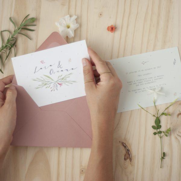 Invitaciones de boda florales