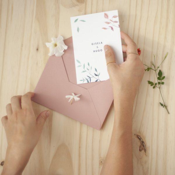 Invitaciones de boda hojas