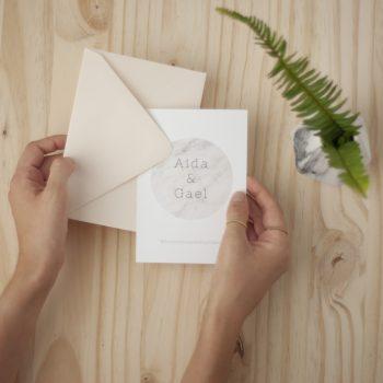 Invitaciones de boda marmol