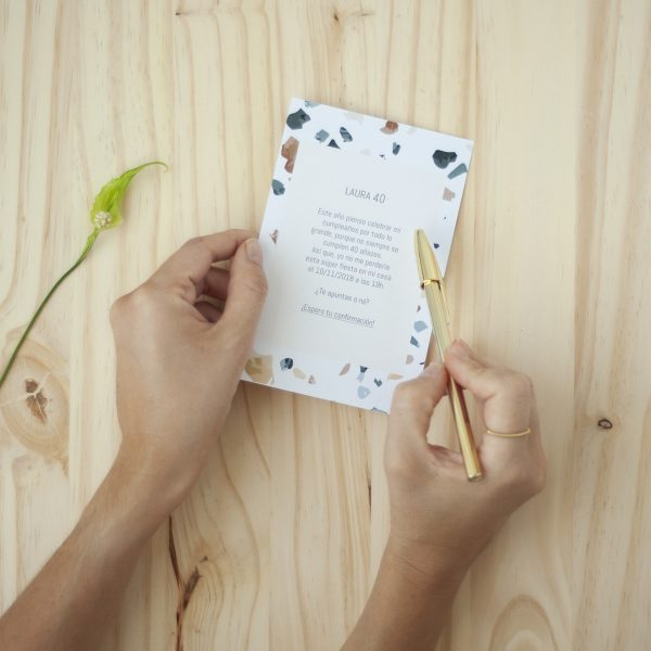 invitación boda terazzo