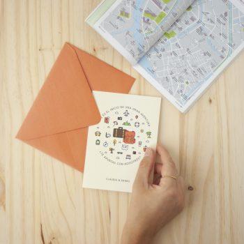 invitación boda viajeros