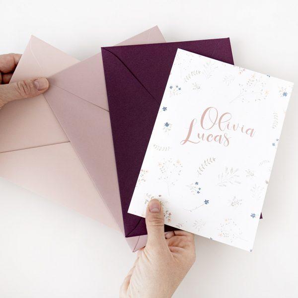 Invitaciones boda boho