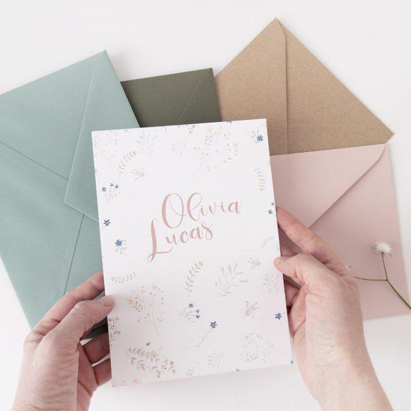 Invitaciones boda rusticas