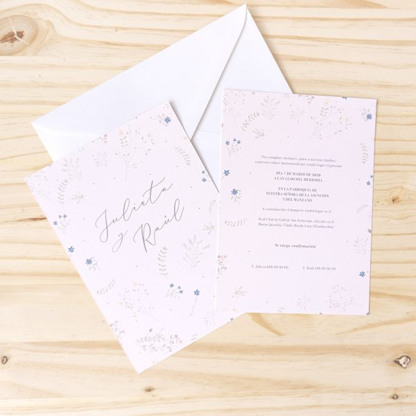 Invitaciones boho rústicas campestres florales