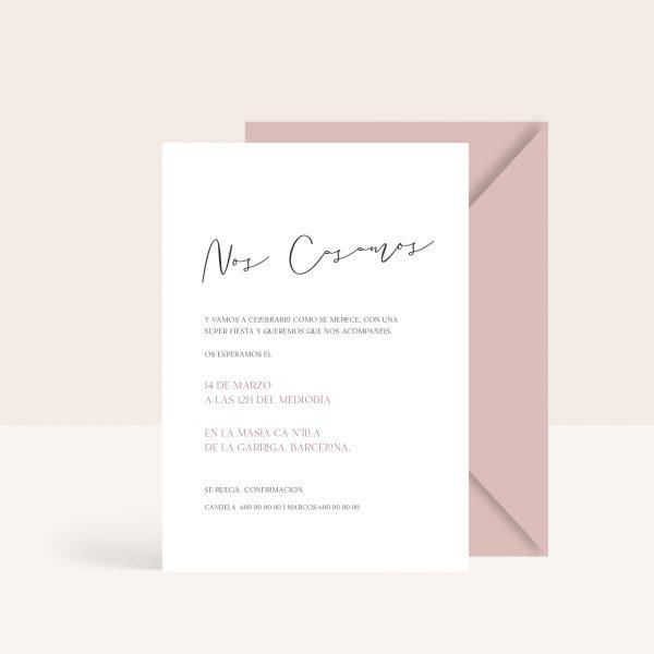 Invitaciones de boda con texto personalizado