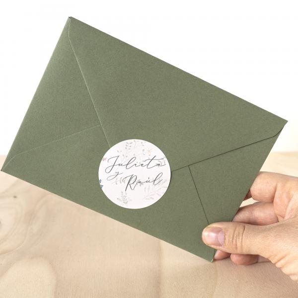 Adhesivo invitaciones boda