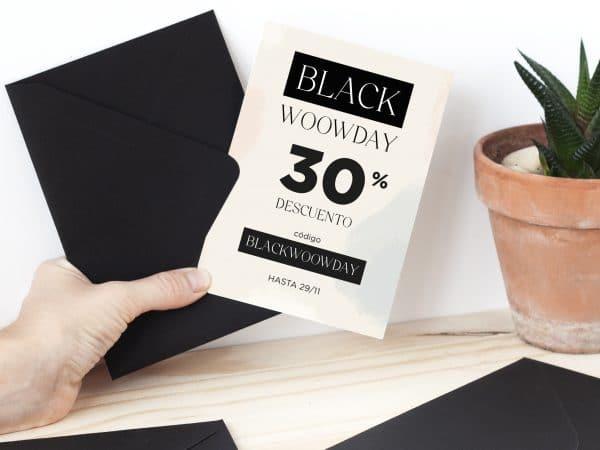 Promoción del Black Friday con 30% invitaciones de boda