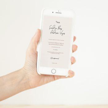 invitación digital clásica textura papel