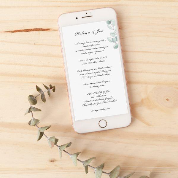 invitación boda clásica pra whatsapp