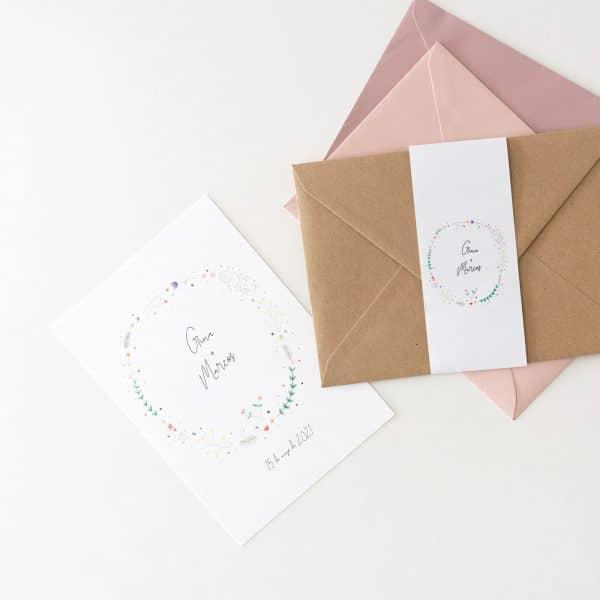 Originales Invitaciones de boda con fajín