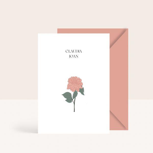 Sencillas invitaciones de boda de estilo minimal