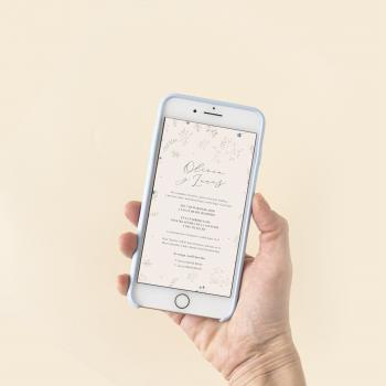 invitacion boda digital rústica