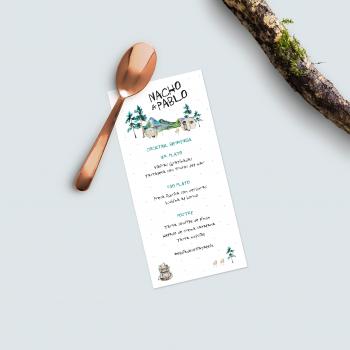 forestal menu nupcial