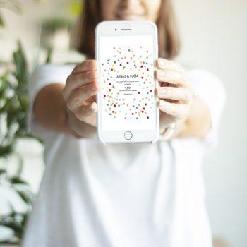 invitacion whatsapp confetti fest