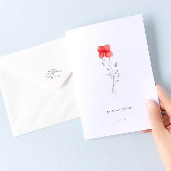 Sello de boda personalizado a juego con invitación
