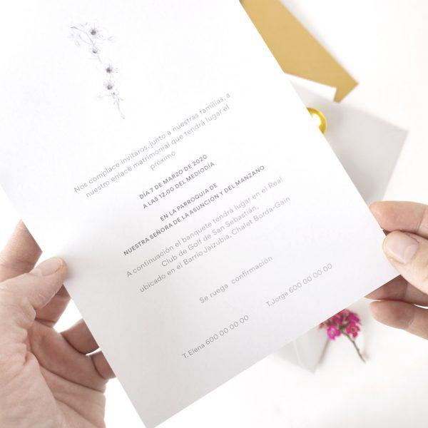 invitaciones de boda flor cerezo