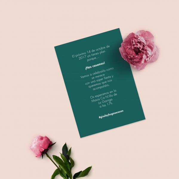 leaf invitacion impresa atras