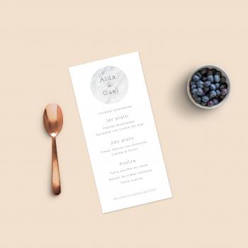 marmol menu nupcial