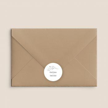 pegatinas para sobres de boda estilo minimal