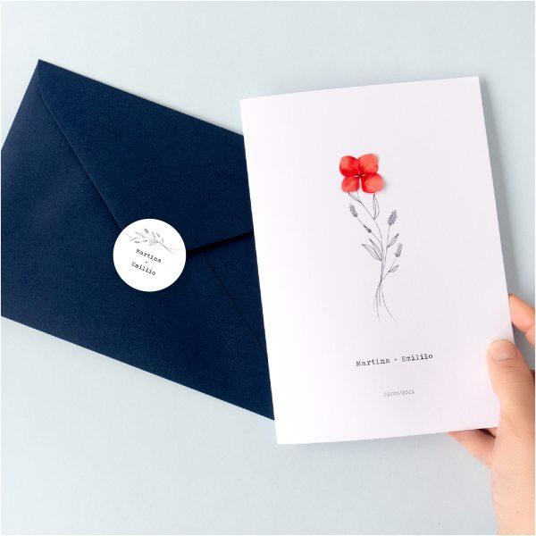 Pegatinas de boda para sobres y regalos especial bodas