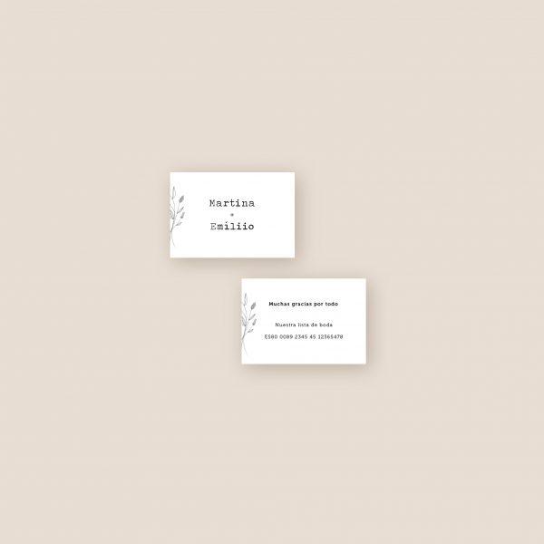 tarjeta informativa para numero de cuenta para invitaciones de boda